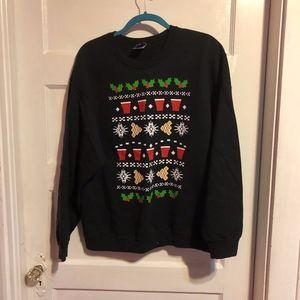 Sweaters - Beer Pong Ugly Christmas Sweatshirt